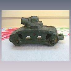 Cast Iron Toy Tank