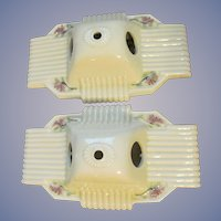 2 Ceramic Bath Bathroom Wall Lights in Need of Restoration