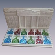 Wheaton Limited Edition Presidential Carnival Glass Bottles, First in Series
