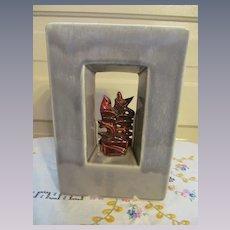McCoy Pottery Silhouette Shadow Box Planter Vase