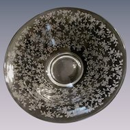 """Tiffin Cerice 11.5"""" Bowl, Etched Roses"""
