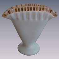 Fenton Rose Crest Fan Vase 1946-48