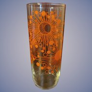 Cool Orange Starburst Cosmos Sputnik Mid Century Barware Martini Cocktail Mixer