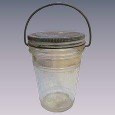 Hazel Atlas Barrel Pantry Jar with Wire Handle