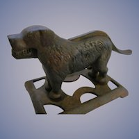 Cast Iron Dog Nut Cracker with Base