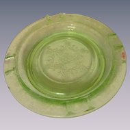 Florentine Green Depression Ashtray by Hazel Atlas