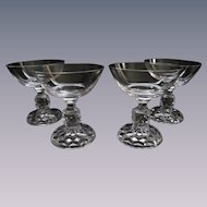 Four American Lady Fostoria 4oz Cocktail Goblets