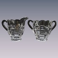 Cambridge Cascade Creamer and Sugar Set