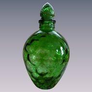 Green Wheaton Honeycomb Decanter Bottle