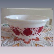 Hazel Atlas Red Apple Mixing Bowl