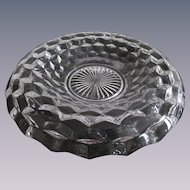 "Fostoria Amcerican 11.75""  Rolled Over Edge Bowl"