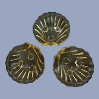 Cambridge Caprice Yellow Shell Salts Nut Dish Trio
