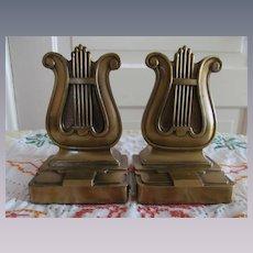 PM Craftsman Brass Harp Bookends