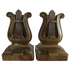 PM Craftsman Brass Harp Bookends