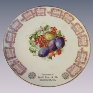 1910 Colchester Illinois Cadendar Plate, Terrill Bros & Co