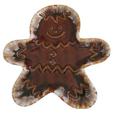 Hull Pottery Gingerbread Man with Foam Cookie Tray Server
