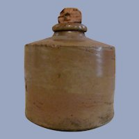 Stoneware Inkwell with Original Cork