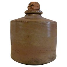 Stoneware Inkwell with Original Cork