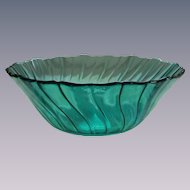 """Petal Swirl Ultramarine 9"""" Salad Bowl by Jeannette"""