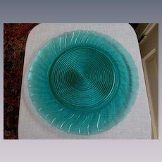 Petal Swirl Ultramarine Sandwich, Tidbit, Cake, Dessert Serving Plate by Jeannette