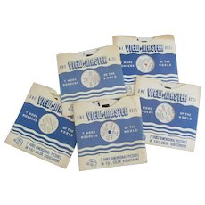 Five Viewmaster Children Reels, 3 with Paperwork