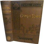 1883 Daniel Deronda by George Eliot, Caxton Edition, 8 Books