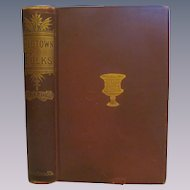 1890 Old Town Folks by Harriet Beecher Stowe, Publ by Houghton Mifflin and Company