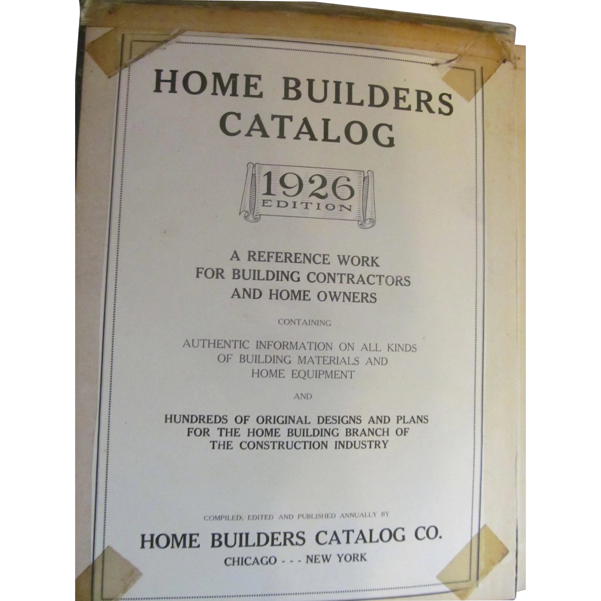 1926 Home Builders Illustrated Catalog For Building Contractors Home Prairieland Antiques Ruby Lane