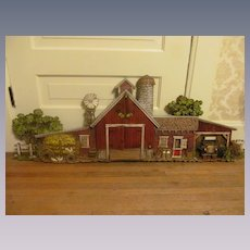 1974 Large Burwood Products 3-D  Barn Wall Plaque Decor