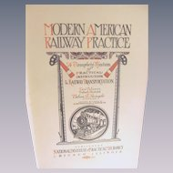 1913 Modern American Railway Practice, Roundhouse and Shop Machine Work Volume 8 Illustrated by L Elliott Brookes