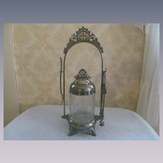 EAPG Cupid and Venus Silver Plate Pickle Caster