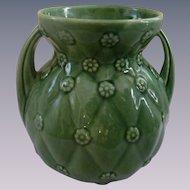 Shawnee Pottery Quilt Handled Vase