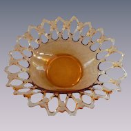 Westmoreland Doric Lace Golden Amber Large Bowl