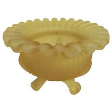 Westmoreland Yellow Mist Satin Rose Bowl