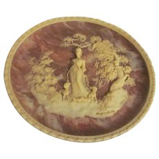 1977 Incolay Plate, She Walks in Beauty, First in Series with Paperwork and Box