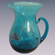 Old Morgantown Glass Pitcher Made for Russell Wright Co