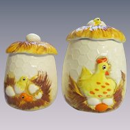 Sears Roebuck Chicken Chick Hen Canisters