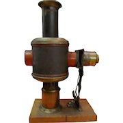 Early German Magic Lantern Kerosene Projector by Wiener Flachbrenner