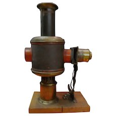 Early German Magic Lantern Kerosene Projector by Wiener Flachbrenner
