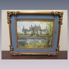 French Lucien Delarue Original Watercolor Painting
