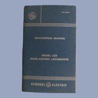 1972 Diesel Electric Locomotive Model U33 Educational Manual by General Electric