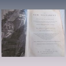 1878 The New Testament, Notes by Rev John Stevens Cabot Abbott and Jacob Abbott