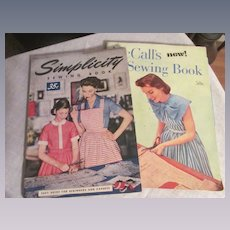 1955 Simplicity, 1949 McCall Sewing Books