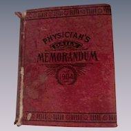 1904 Physician's Daily Memorandum of Patients