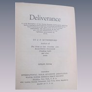 1926 Deliverance by Rutherford, International Bible Students Association, Watch Tower Bible & Tract Society