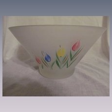 Hocking Gay Fad Frosted Tulip Bowl