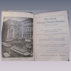 1904 The Great Chicago Theater Disaster Told by the Survivors, by Everett, Publishers Union of America