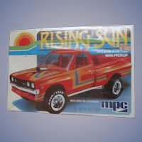 Datsun Rising Sun Custom Mini Pickup Truck, 1980 MPC 1/25 Scale Model Car Kit  #1-0853, MIB