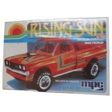 Datsun Rising Sun Custom Mini Pickup Truck, 1980 MPC 1/25 Scale Model Car Kit  #1-0853, MIB