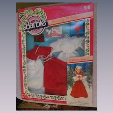 1982 Mattel Barbie Christmas Collector Series I Outfit #4277, Heavenly Holidays, A Genuine Fashion, MIB